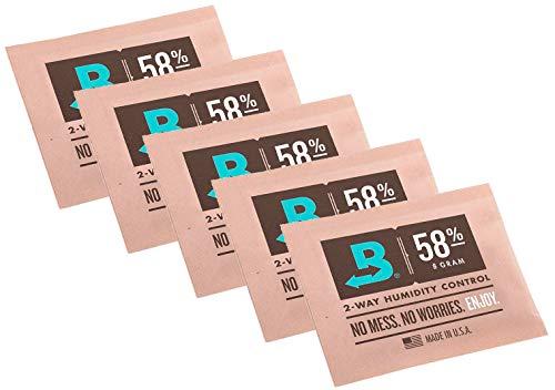Boveda yaoviz Set 58% 5 Beutel mit je 8g - 2-Wege-Feuchtigkeitsregler + Rasta-Button