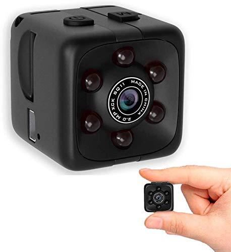 Cámara espía mini cámara oculta con audio pequeña niñera Cam 1080 p inalámbrico portátil interior al aire libre cámara de seguridad