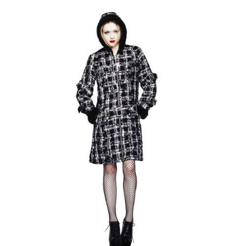 Hell Bunny Celina Coat Black fur - Cappotto corto Nero M
