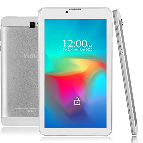 7-inch Android Pie Tablet and Phone by Indigi QuadCore CPU 2GB RAM/16GB ROM Smartphone, 4G LTE GSM Unlocked AT&T/T-Mobile, White