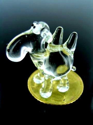 Kameel mini 1 transparant - miniatuur figuur van glas doorzichtig kameel glazen figuur deco stzkasten vitrine k-12