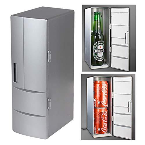 Angelay-Tian Mini Nevera, USB PC 3.5W Mini refrigerador de la Bebida Bebidas/Calentador, for los Coches, Casas, oficinas y dormitorios Tamaño: 24,5 x 10,8 x 8.3cm