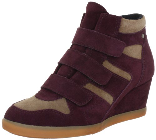 ESPRIT Lexa Tape Bootie L13116, Damen Fashion Sneakers, Rot (deep bordeaux 646), EU 40