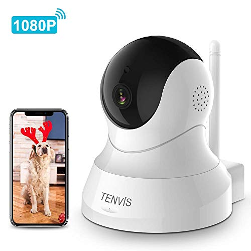 Dog Camera - TENVIS 1080P Pet Camera with Phone App Speaker, Wireless HD Baby Monitor Camera with Motion Detection, 2-Way Audio, Night Vision, WiFi Home Security Camera with iOS & Android APP