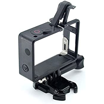 Glorich Frame Mount for GoPro Hero 4, Hero 3+, Hero 3 Plus, Hero 3 Standard Frame/BacPac Frame / 2 in 1 Frame Mount (2015 Latest Version Compatible with Camera-only, Camera Mounted with LCD BacPac)