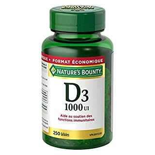 Vitamin D3 By Nature's Bounty, Vitamin D Supplement, Helps In Development Of Bones And Teeth, 1000Iu, 250 Softgels (B00BMEICRG) | Amazon price tracker / tracking, Amazon price history charts, Amazon price watches, Amazon price drop alerts