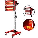 Bestauto 2000W Baking Infrared Paint Curing Lamp 2 x 1000W Shortwave Auto Body Repair Heat...
