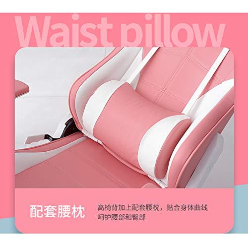 Xin Hai Yuan Silla para Juegos Sillas De Escritorio con Pie Silla para Computadora De Oficina Respaldo Alto Reclinable Resistente con Soporte Lumbar Rosa,Withoutfoot