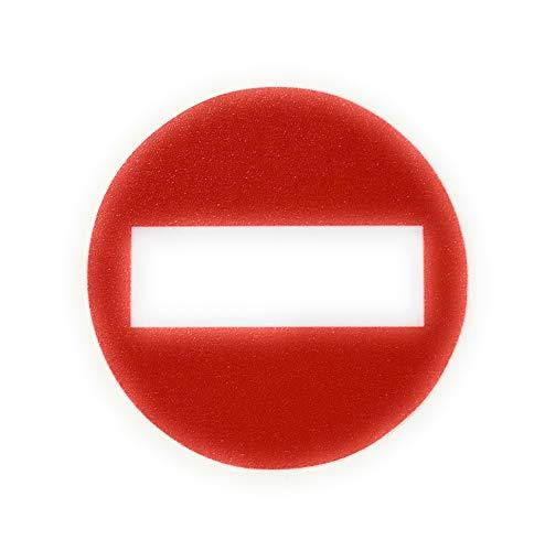 Calcomanías de señal de seguridad con símbolo de prohibición de entrada, pegatinas de advertencia de vinilo adhesivo, aviso de seguridad, 10 cm de diámetro (paquete de 3)