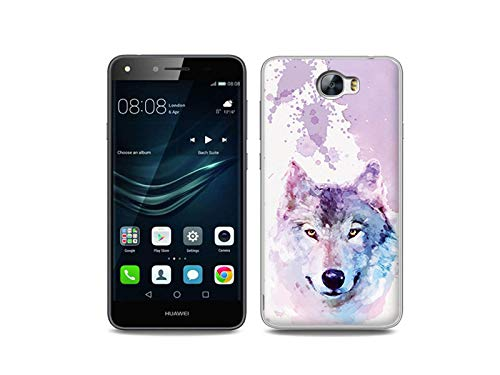 etuo Handyhülle für Huawei Y6 II Compact - Hülle, Silikon, Gummi Schutzhülle - Traumwolf