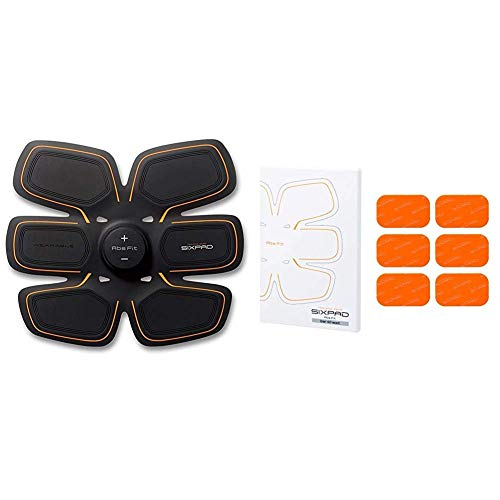 SIXPAD Abs Fit EMS Abdominal Trainer Training Gear Abs Fit Fit2 Gel Sheet Pack Orange One Size