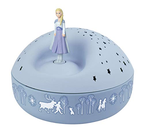 Trousselier - DISNEY - Die Eiskönigin 2 - Frozen 2 - Nachtlicht - ideales Geburtsgeschenk - Sternenprojektor mit Musik - Rotierende Figur - Batterien inklusive