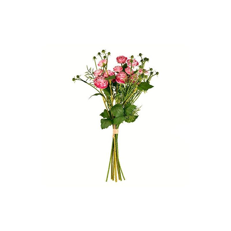 "silk flower arrangements vickerman mini ranunculus spray artificial-flowers, 17"", pink"