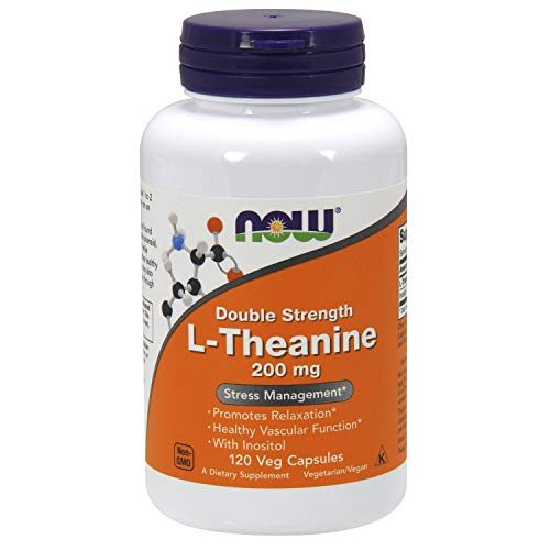Now 200 mg de L-Théanine de Légumes à Double...