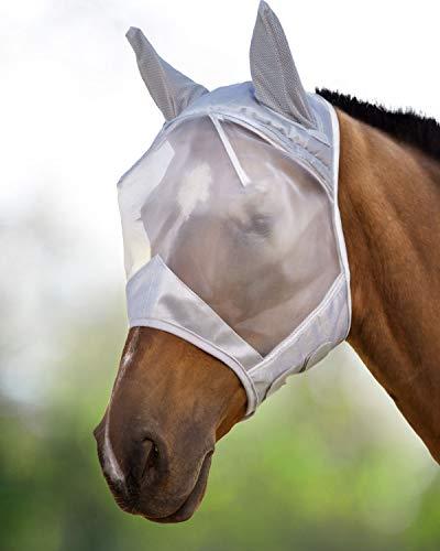 Harrison Howard CareMaster Maschera Anti-Mosche per Cavallo UV Protezione con para...