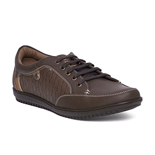 Duke Men Brown Synthetic Leather/TPR Casual Shoes 6