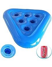 LifeBest Triangel uppblåsbar underlägg flytande ölglashållare simning pool underlägg dryckeshållare söt kopp underlägg dryck flyter för sommar pool festdekorationer