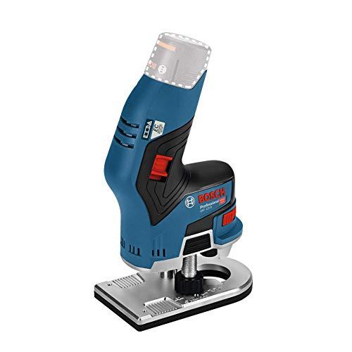 Bosch Professional 12V System Akku Kantenfräse GKF 12V-8 (Fräskopf-Schaft: 8 mm, ohne Akkus und Ladegerät, im Karton)