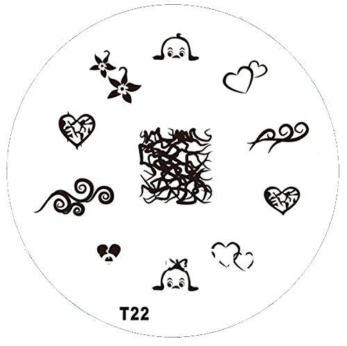 Pochoir de stamping # T 22 Tribals, tatouages, etc.