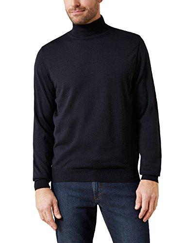 Walbusch Herren Merino Mix Rollkragen Pullover einfarbig Marine 58/60