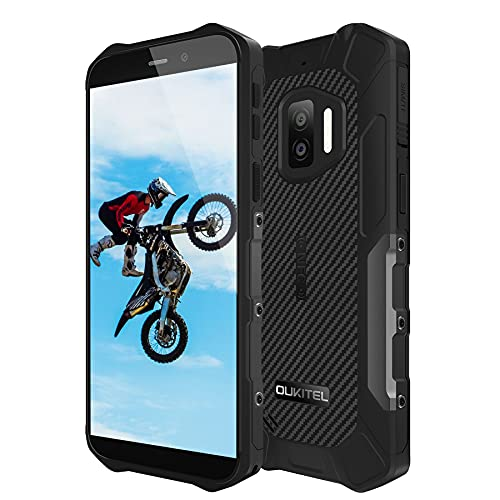 OUKITEL WP12 Rugged Smartphone Economici 2021, Android 11 Display 5.5  ,13MP+2MP+2MP Camera,4GB +32GB Cellulari Offerte, IP68 Impermeabile Antiurto,Batteria 4000mAh, Dual SIM NFC OTG Telefono Nero