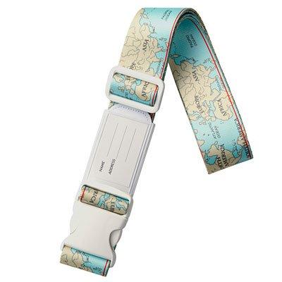 海外旅行用品|ラゲッジ アクセサリー コレクション ワンタッチスーツケースベルトワールドマップ