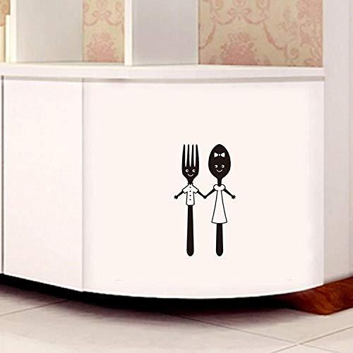 Bonita herramienta de cuchillo y tenedor, pegatina de pared para comedor, restaurante, decoración del hogar, calcomanías, pegatinas para vajilla, papel tapiz
