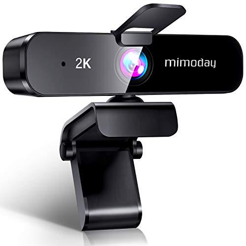 ウェブカメラ webカメラ 【2K超高画質 400万画素 2021最新のデザイン】 マイク内蔵 広角 HD 30FPS オートフォーカス USB PCカメラ パソコン用 外付け 会議 ビデオ通話 在宅勤務 ネット授業 自動光補正 Mac/Windows/Linux/Chrome Zoom/Skype/Youtube対応 (2K)