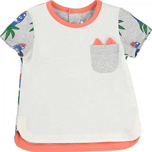 Little Marc Jacobs - T-Shirt Corail et Gris - 18 Mois, Gris Clair