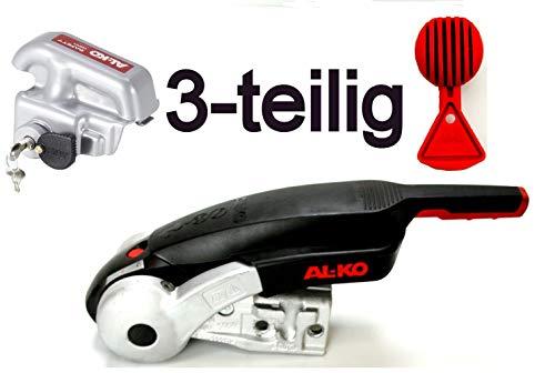 Original AL-KO AKS 3004 Antischlingerkupplung - 3 teiliges Set - Safety Dreierpack mit Alko Diebstahlsicherung Safety Compact und Alko Safety Ball - 1225155 Sicherheitskupplung Anhänger Wohnanhänger