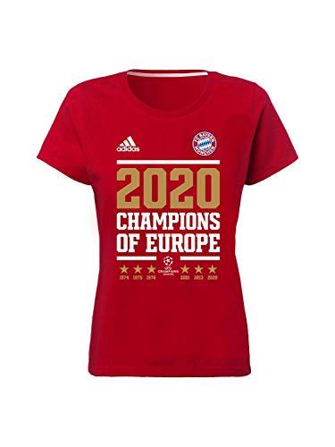 FC Bayern München Damen T-Shirt Champions of Europe 2020 rot, L