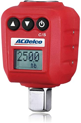 """ACDelco 1/2"""" Digital Torque Adapter (25 to 250 ft-lbs) with Audible, LED Alert ARM602-4A"""