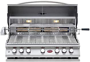 Cal Flame 089245002161 5 Burner Deluxe Grill Head W/Rotisserie, Stainless Steel