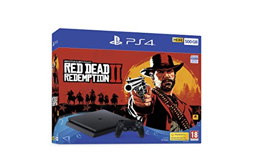 Sony PlayStation 4 500GB Console (Black) with Red Dead Redemption 2 Bundle [Edizione: Regno Unito]