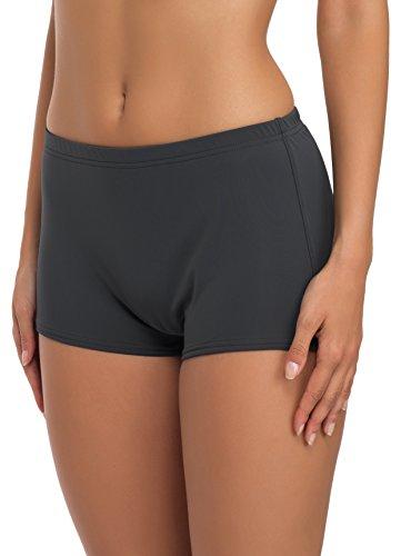 Merry Style Damen Badeshorts Bikinihose Modell L23L1 (Graphit (9154), 50)