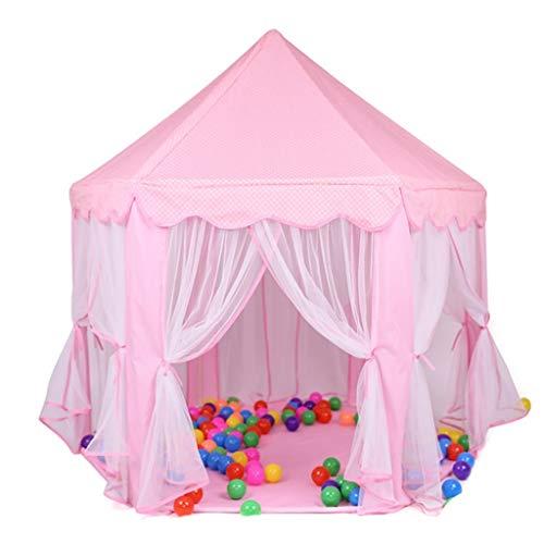 ANQIY Tienda de campaña para juegos de princesa, castillo de princesa, sala de juguetes, parque infantil, de algodón grueso, cielo estrellado para niños (color: rosa, tamaño: #2)