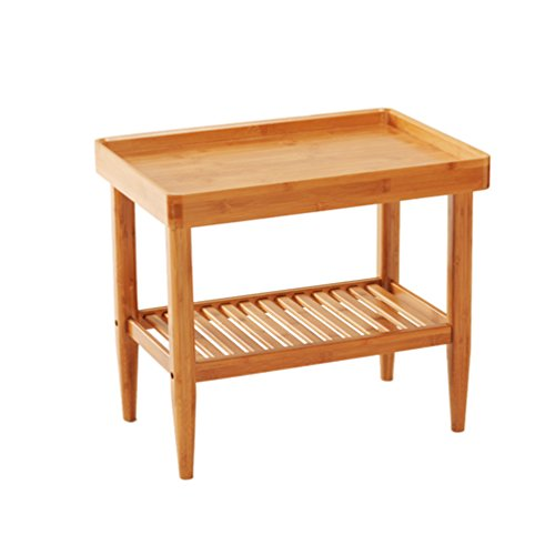 GLJ Algunas Esquinas del Sofá Algunas Mesas IKEA Moderno Minimalista Sala De Estar De Bambú Mesa De Té Pequeña Mesa De Centro Mesa De Café Mesa Plegable (Size : 50 * 36 * 45CM)