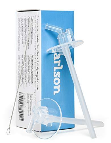 Jarlson Pajitas de Recambio repuestos | 2 boquillas de Silicona y 2 Extensiones para Paja | Incluye Cepillo de Paja | Sin BPA