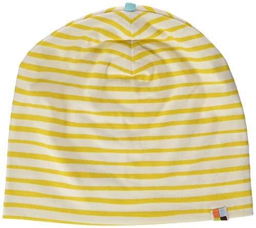 loud + proud Unisex Baby Mütze mit Druck, aus Bio Baumwolle, GOTS zertiziziert, Gelb (Honey Hon), 37/39 (Herstellergröße: 62/68)