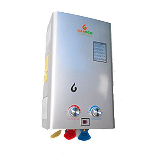 GAXECO Calentador De Agua De Paso Tipo Instantaneo Gas Natural De 12 Lt/Min