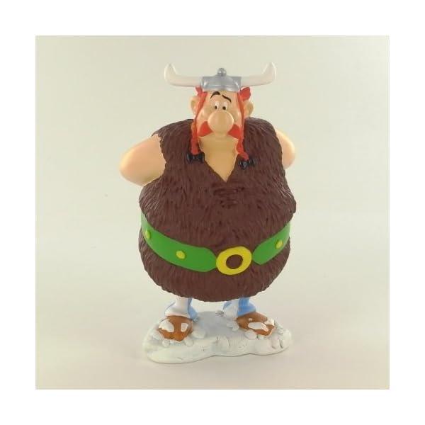 Asterix figura resina Obelix vikingo 14 cm 1