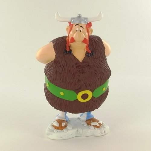 Asterix figura resina Obelix vikingo 14 cm
