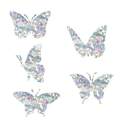 Butterfly Static Window Clings Anti Collision Window Decals for Bird Strikes, Glass Alert Bird Deterrent, Stop Birds Flying into Windows, Set of 20