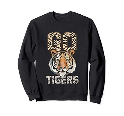 Go Tigers distressed casual-chic graphic for women Sudadera