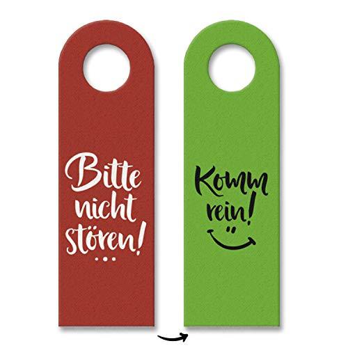 trendaffe - Nicht stören oder Komm rein Türhänger mit lachendem Gesicht in Rot-Grün Zimmer