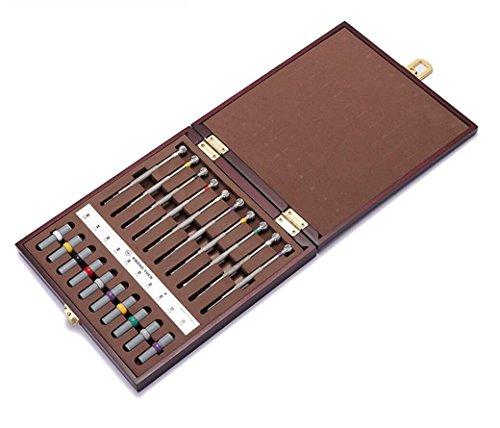 Hycy 10Pcs Sortierte Schraubenzieher-Satz-Uhr-Reparatur-Schraubenzieher-Werkzeuge mit Gewicht Fass Für Uhrmacher