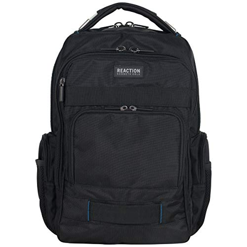"Kenneth Cole Reaction Urban Triple Compartment 15""-17"" Laptop RFID Business Travel Backpack, Black, One Size"