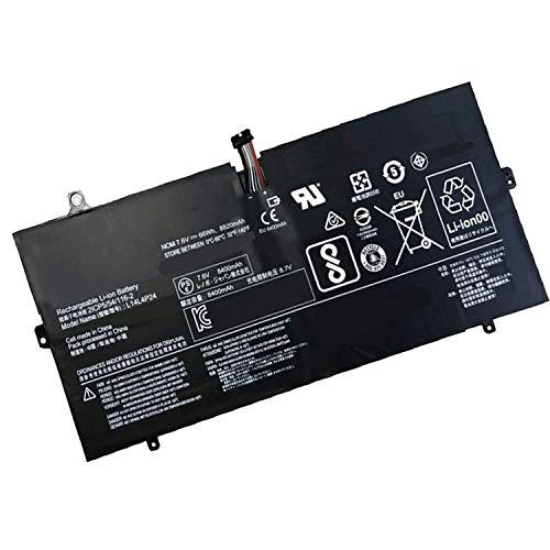 Backupower - Batería de repuesto compatible con Lenovo 5B10H43261 5B10H55224 L14L4P24 L14M4P24 Yoga 900-13ISK 900-13ISK2 (7,5 V, 7,6 V, 66 Wh/8400 mAh)
