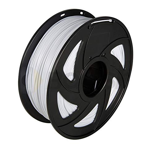 LHF PLA 3D Filament,1.75mm 3d Printer Filament,1kg Multicolored 3d Printing Material For 3D Pen,Dimensional Accuracy + -0.02mm White Pla 1.75