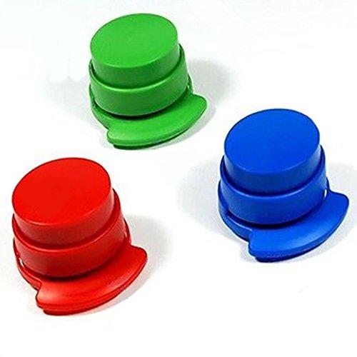 3 Stück Heftklammerloser Hefter, tragbarer Mini-Hefter, Papierbindung, für Büro/Zuhause/Studenten, Schreibwaren/Kinder (zufällige Farbe, zufällig)